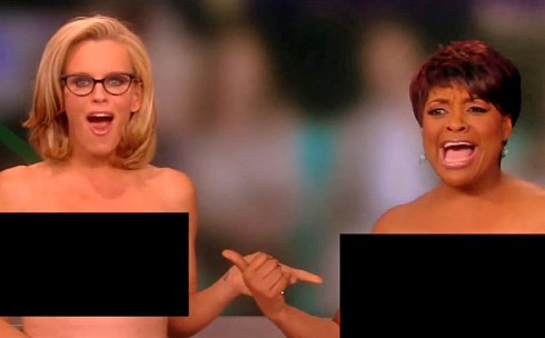 Jenny McCarthy and Sherri Shepherd Go Topless on The View