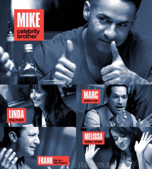 The Sorrentinos cast with Mike Sorrentino, Marc Sorrentino, Linda Sorrentino, Frank Sorrentino and Melissa Sorrentino
