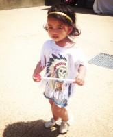 Tracy Nguyen's son Ryan in a Yeezus shirt at Kidchella 1