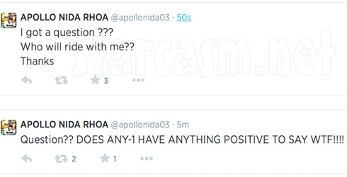 Apollo Nida last tweets before prison?