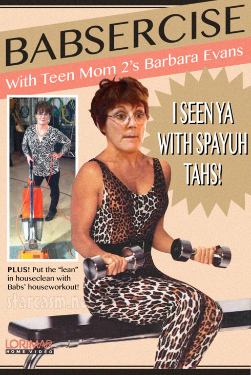 Barbara Evans Babsercise exercise workout video Teen Mom 2