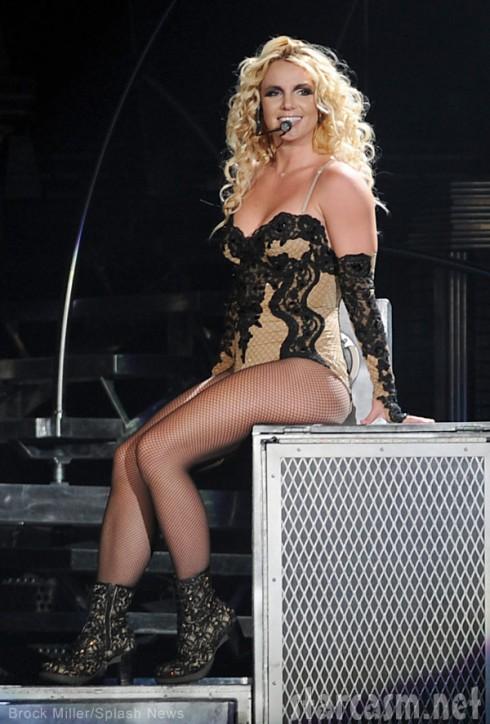 Britney Spears lingerie concert costume