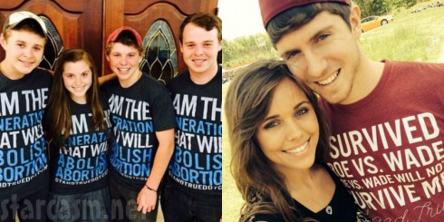 Duggars Pro-Life Anti-Abortion Shirts