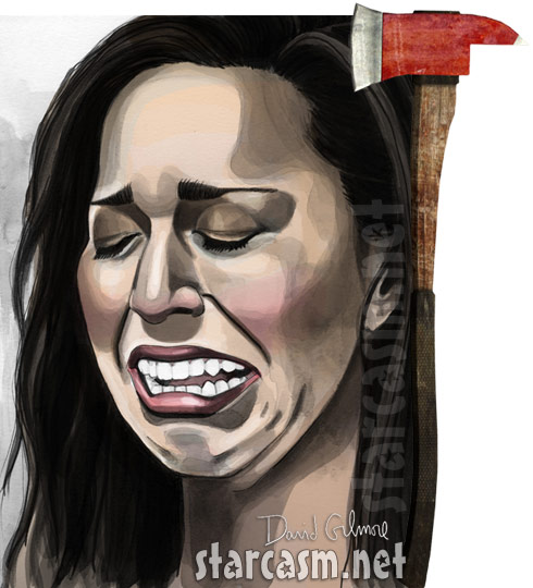 Farrah Abraham cry face axe Axeman II movie graphic