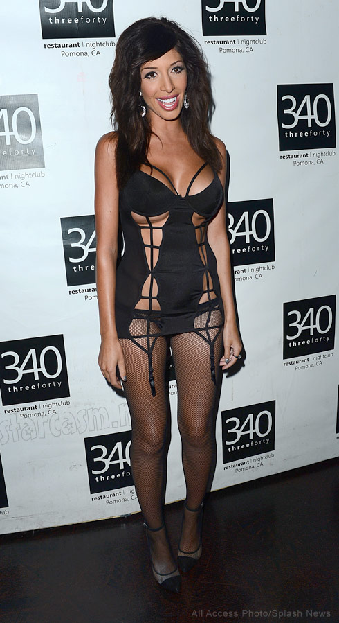 Farrah Abraham in  lingerie at her Topco sex toy launch party