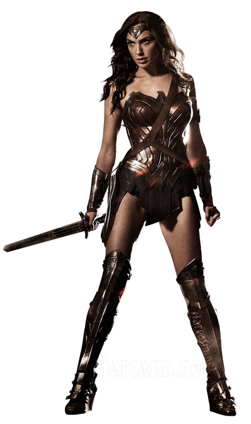 Gal Gadot as Wonder Woman clip art white background - click to enlarge