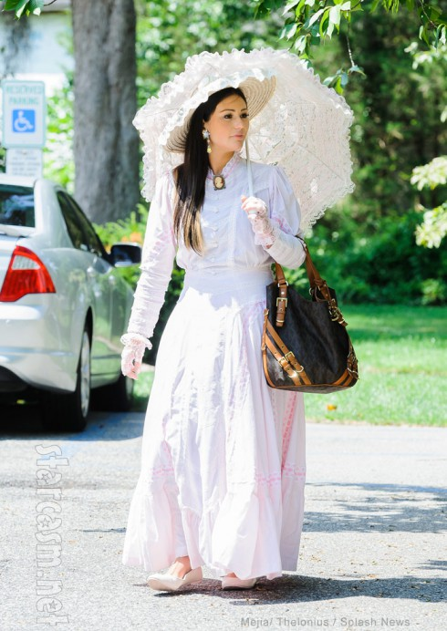 JWoww wearing Victorian clothes