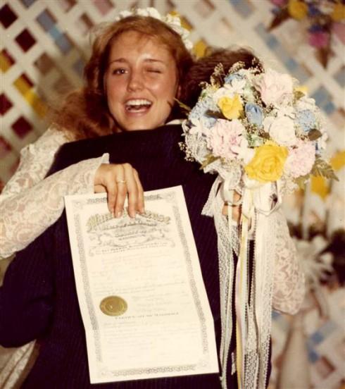 Michelle Duggar - Jim Bob Duggar Wedding 1984
