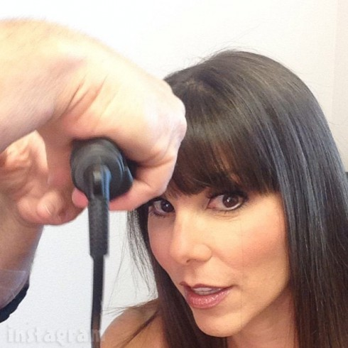 Heather Dubrow with bangs