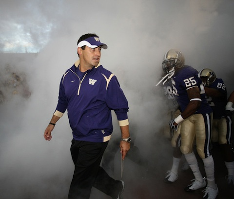 Before taking over at USC, Steve Sarkisian was the head coach up the coast at the University of Washington.