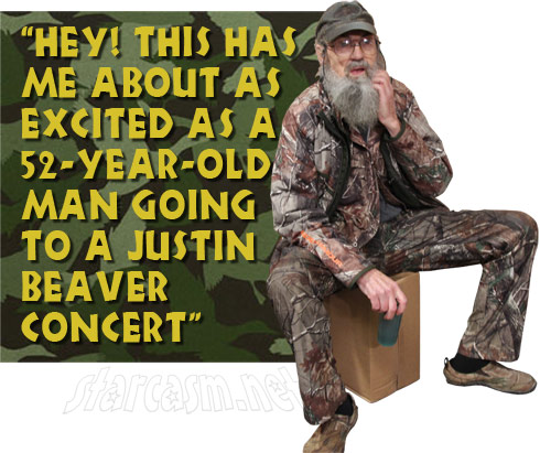 Uncle Si Justin Beaver quote about E! Duck Dynasty True Hollywood Story special