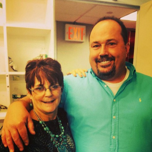 Babs Evans and Papa Randy Houska together Teen Mom 2 Reunion 2014