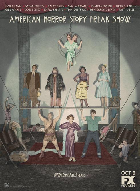 AHS Freak Show cast poster - click to enlarge
