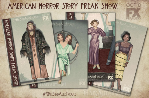 AHS American Horror Story Freak Show character posters - click to enlarge