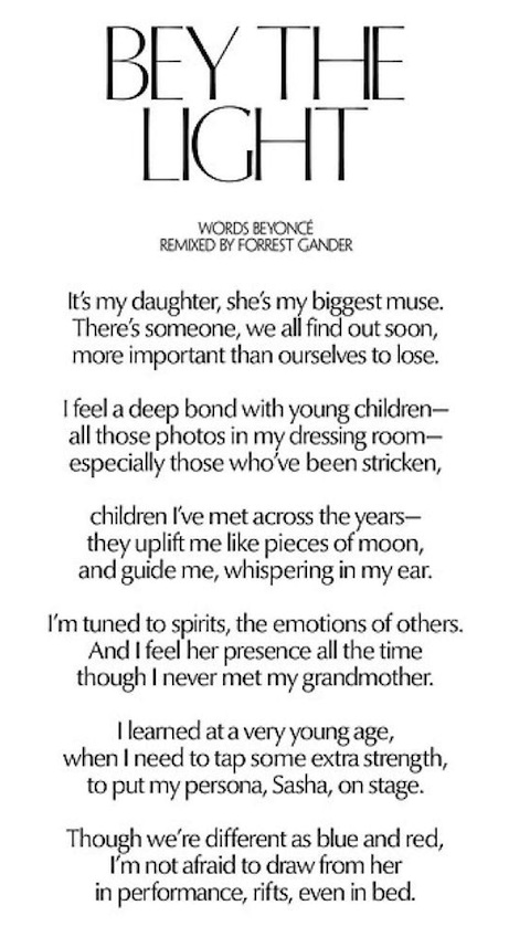 Beyonce poem 1