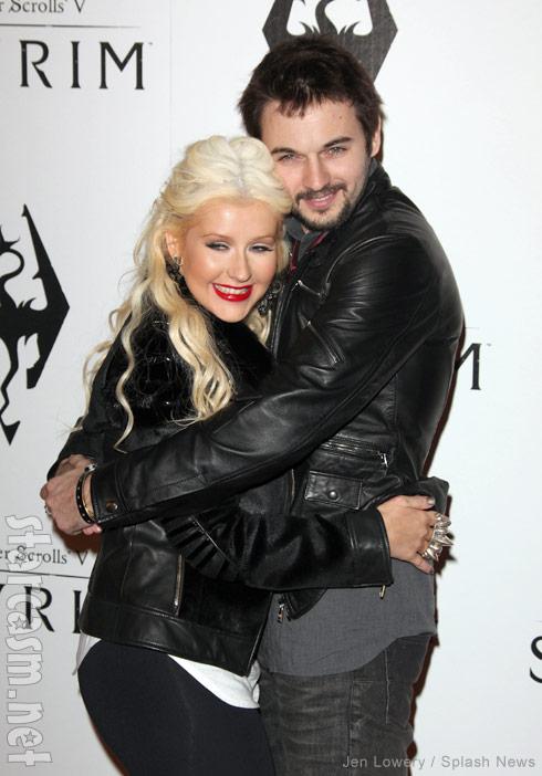 Christina Aguilera and fiance Matthew Rutler