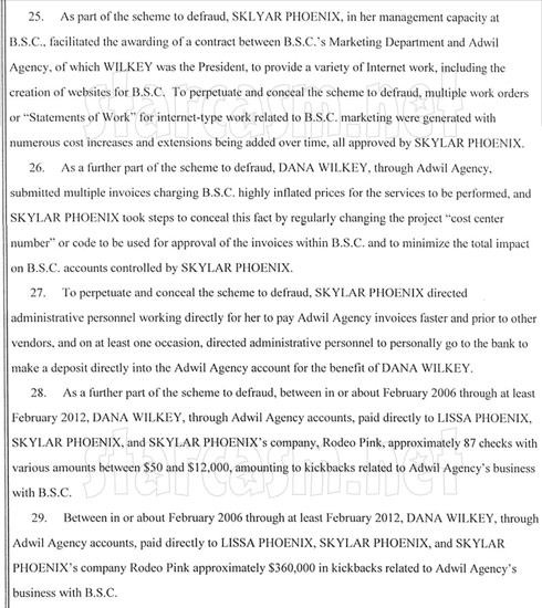 Dana Wilkey fraud indictment pdf - click to enlarge