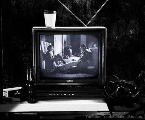 Frank Miller amd Robert Rodriguez Sin City 2 cameo - click to enlarge