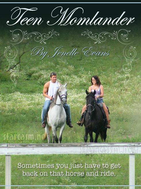 Jenelle Evans horseback Teen Momlander romance novel cover
