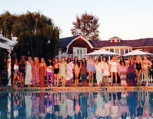 Jessica Simpson Ashlee Simpson Bridal Shower Group