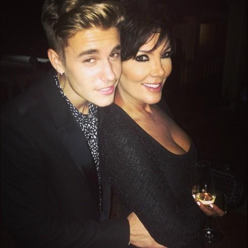 Justin Bieber and Kris Jenner