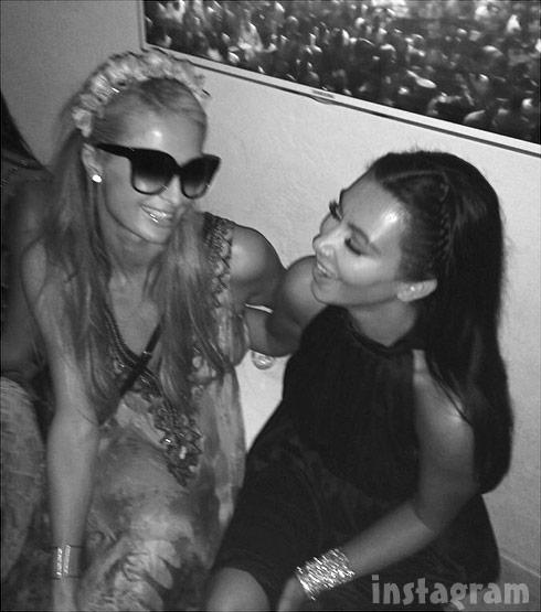 Kim Kardashian Paris Hilton together in Ibiza 2014