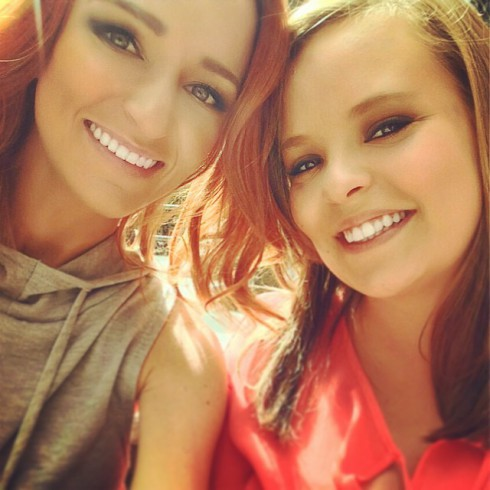 Maci Bookout and Catelynn Lowell together