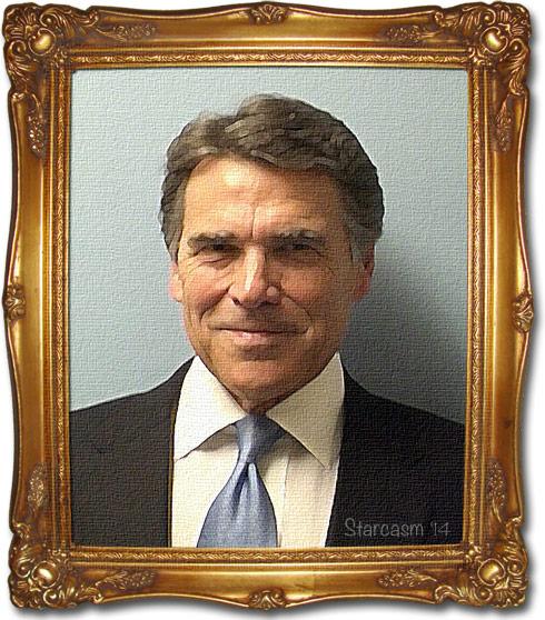 Rick Perry mug shot painting