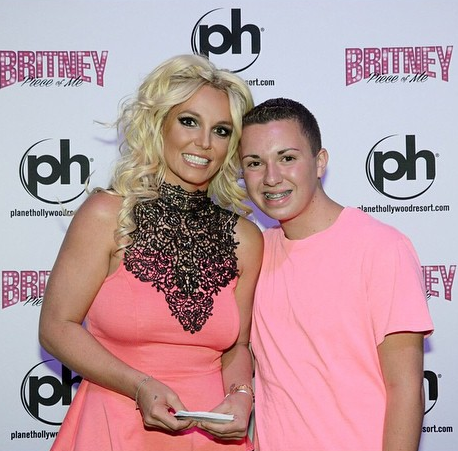 Britney Spears with fan David LeCours
