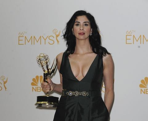 Sarah Silverman Brought Boobs Liquid Pot To The Emmy Awards