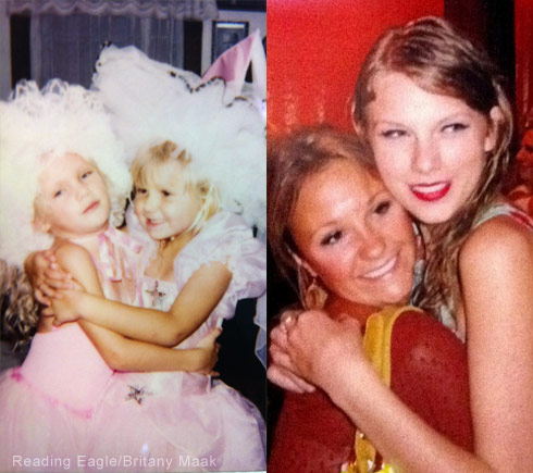 Taylor Swift childhood photo with Britany Maack