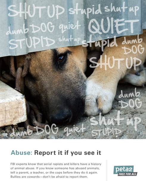 PETA anti-dog abuse poster