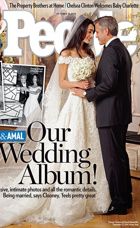Wedding Dress of George Clooney's wife