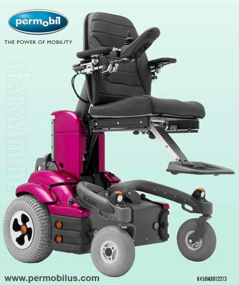 What kind of wheelchair does Ali Calvert have? The Permobil K450 MX