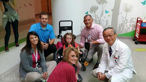 Teen Mom 2 Leah Calvert's daughter Aliannah Simms' new wheelchair - click to enlarge