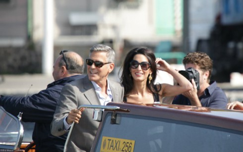 George Clooney Amal Alamuddin Wedding Arrival