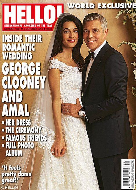 Hello Geroge Clooney wedding cover
