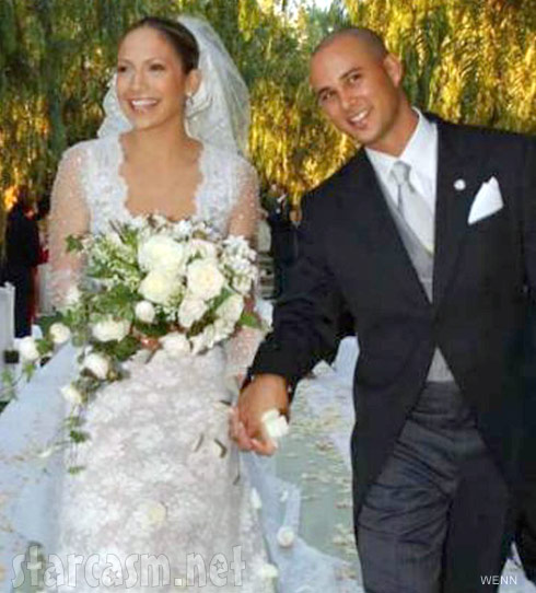 Jennifer Lopez wedding photo with Cris Judd
