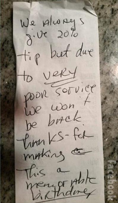 Jenelle Evans tip receipt