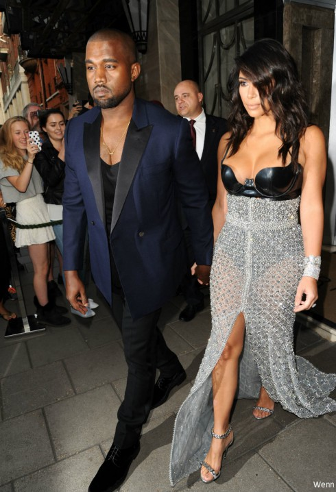 Kim Kardashian - Kanye West - GQ Men of the Year Awards