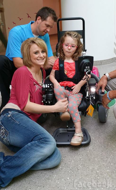 Teen Mom 2 Leah Calvert with daughter Ali's new wheelchair