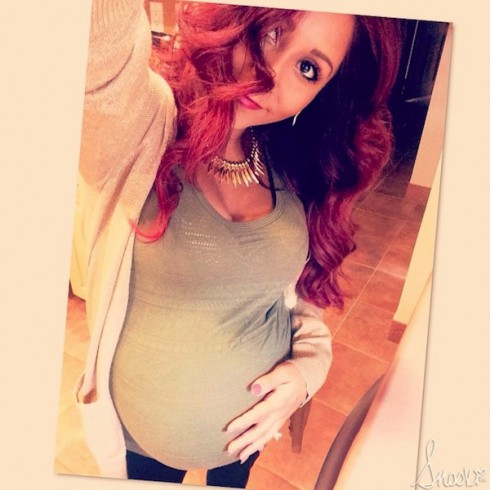 Snooki Baby Bump - 9 Months Pregnant