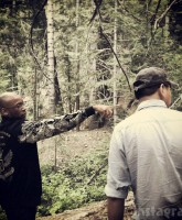 """Axeman 2 Overkill Writer/Director Joston """"El Rey"""" Theney and DP Zack Yan scouting The Axeman's killing fields."""