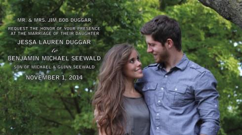Ben and Jessa Seewald Wedding Invitation