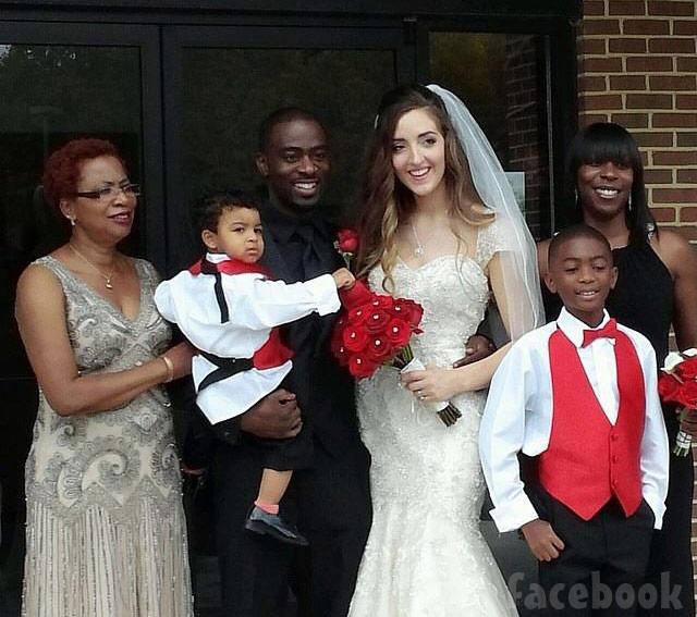 Breaking Amish LA Lizzie and Hoj wedding photo with son Kaden