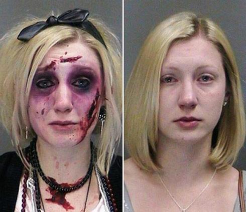 Catherine Butler zombie woman DWI mug shots