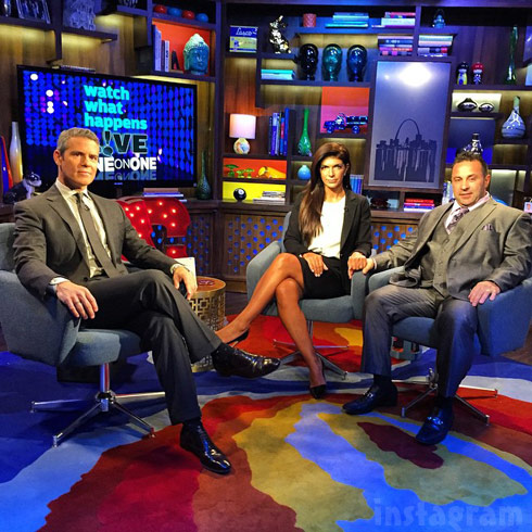 Joe Teresa Giudice WWHL Andy Cohen October 2014 interview - click to enlarge