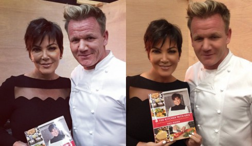 Kris Jenner Photoshop Gordon Ramsay