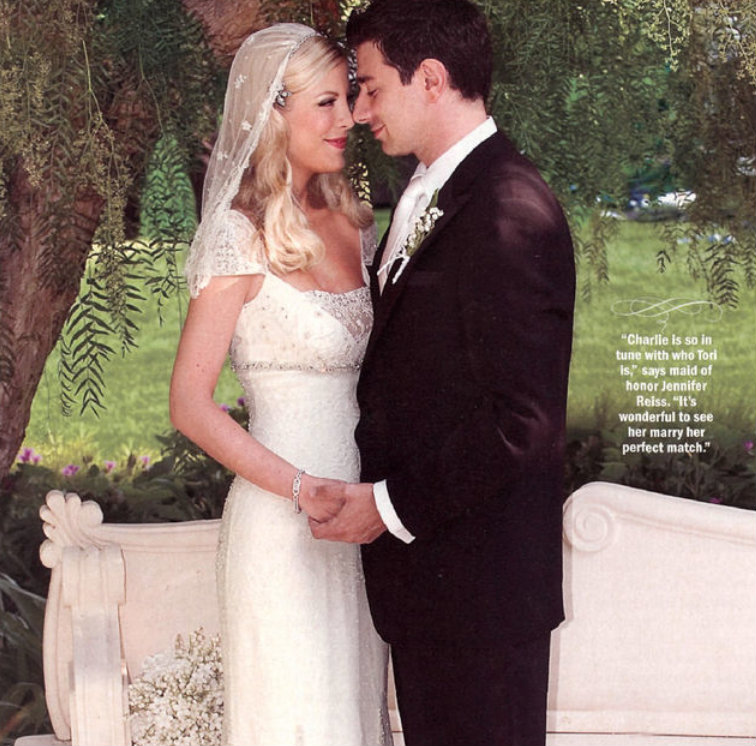 Tori Spelling First Wedding Dress - Gown And Dress Gallery