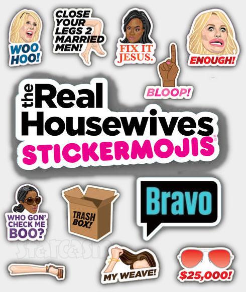 Bravo Real Housewives emoji app samples